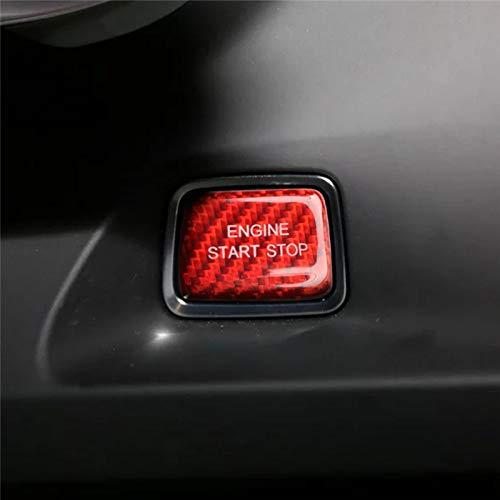 SHES Echt Carbon Auto Styling Zubehör Start Stop Motor Button Cover Fall Für Camaro 2016+ Zubehör Rot