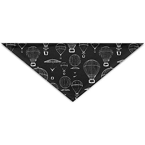 Emild Hot Air Ballon wit zwart huisdier sjaal hond kat bandana kragen driehoek halsdoek