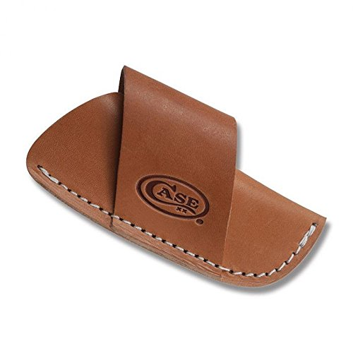 CaseXX XX Large Brown Leather Side Draw Pocket Knife Belt Sheath