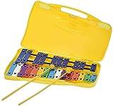 Glockenspiel carrillon metalófono ROCKSTAR AX27N cromático, 25 teclas colores con estuche y mazas - Rockmusic