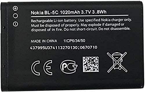 Nokia BL-5C - Batería para Nokia 3650/3100 (ion de litio, 1020 mAH)