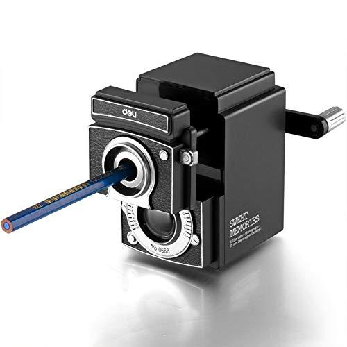 Ianxianrixiangjingujianxia Deli 0668 Sharpener Forme Vintage Camera Crayon Dilution machine originative Crayon à la main Sharpener
