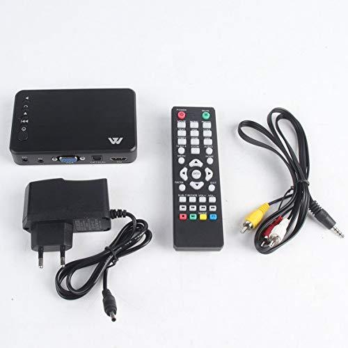 Rouku Mini Portable Full HD 1920x1080 HDMI VGA AV USB Disque Dur U Lecteur de Disque Lecteur Multimédia H7 pour Le Bureau De Voiture À Domicile