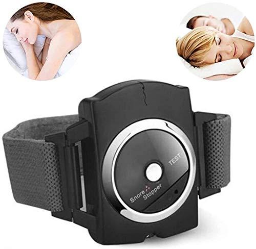 Anti-ronquidos Pulsera del tapón del ronquido del sueño conexión Muñequera Aparato de Masaje, con Sensor de biofeedback, Fácil Efectivo-ronquido Solución de Parada, Mejorar la Calidad del sueño