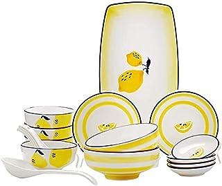 WEDF Service de Vaisselle, Ensemble de Vaisselle en céramique avec 18 pièces, Bol/Plat/cuillère   Ensembles de dîner, Ense...
