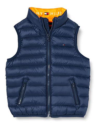 Tommy Hilfiger Unisex U Light Down Vest Jacke, Blue, 86