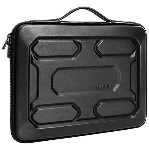 DOMISO Funda para portátil Resistente a los Golpes de 14 Pulgadas con Funda Protectora con asa Compatible con Lenovo ThinkPad A485 / HP ProBook 640 G4 / 645 G4 / DELL New Inspiron 5481, Negro