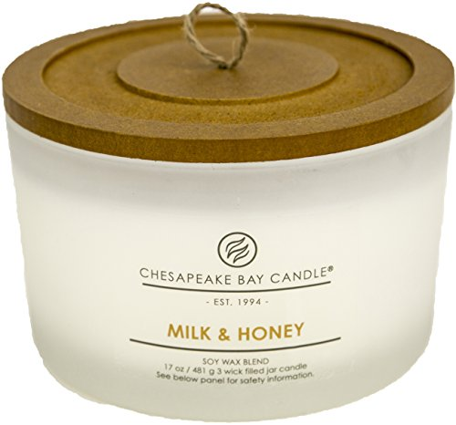 Chesapeake Bay Candle PT18457 3-Wick Scented Candle, Milk & Honey, Coffee Table Jar
