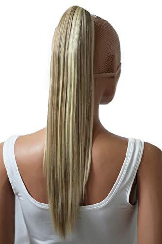 PRETTYSHOP Clip de en las extensiones postizos extensiones de cabello pelo liso largo hechos de fibras sintéticas resistentes al calor 50cm rubia mezcla # 24H613 H153