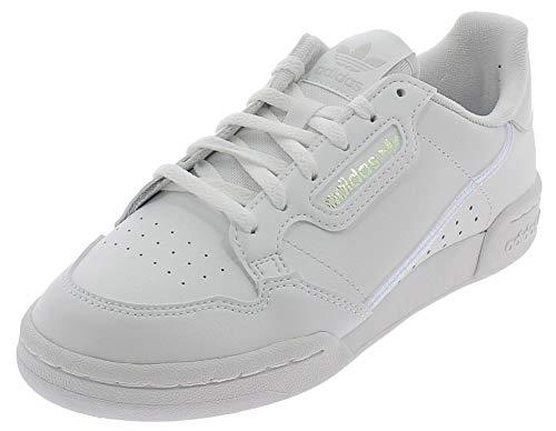 Adidas Continental 80 J, Zapatillas de Gimnasio Unisex Adulto, FTWR White/FTWR White/Core Black, 38 EU