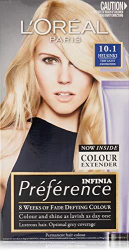 L'Oréal Paris Préférence Permanent Hair Colour - 10.1 Helsinki (Intense, Fade-Defying Colour)