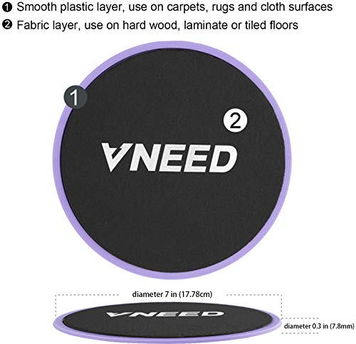 【2020 Update】 Core Exercise Sliders (Set of 2), Smooth Gliders Dual-Sided Design, Use on Hardwood Floors, Workout Sliders Fitness Discs Abdominal & Total Body Gym-Exercise Equipment for Home, Travel 7