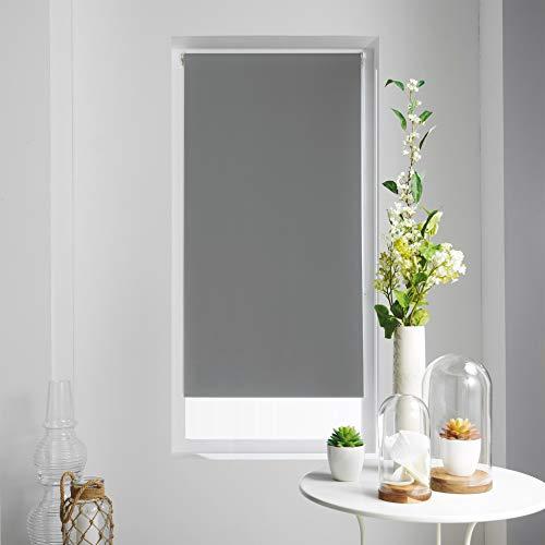 Tenda avvolgibile Oscurante in Poliestere, Colore: Bianco, Grigio, 45 x 180 cm