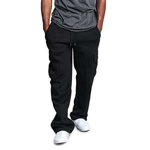 Desconocido Pantalones Deportivos para Hombre Pantalones de Entrenamiento de Baloncesto Pantalones de Hombre Cuatro Estaciones Multibolsillos Largo Plazo Trotar Casual Suelto Empalme
