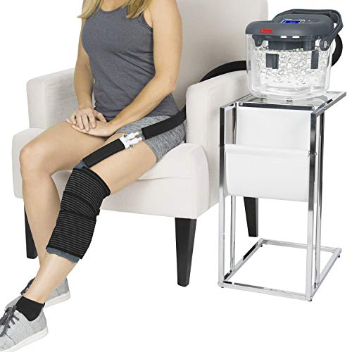 Vive Cold Therapy Machine - Large Ice Cryo Cuff - Flexible Cryotherapy Freeze Kit System Fits Knee,...
