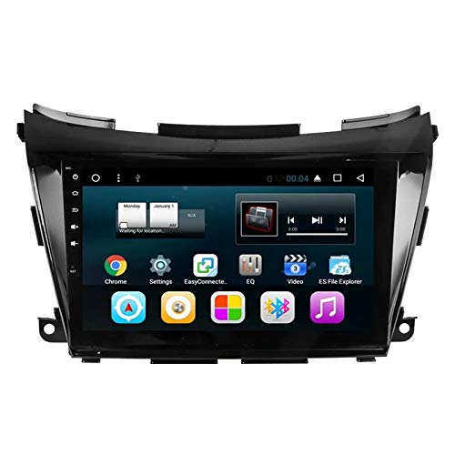 TOPNAVI 10.1Inch Unité de tête pour Nissan Murano 2015 2016 2017 Android 7.1 Voiture Radio stéréo Navigation GPS avec 16 Go de ROM 1 Go de RAM WiFi 3G RDS BT Audio Vidéo