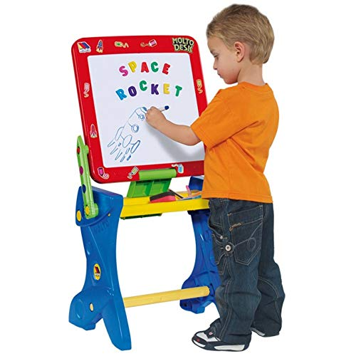 Children's Desk with whiteboard Molto - Normal whiteboard, Magnetic Board, Marker pens, Pieces (Multicolor - 3 in 1 Magnetic Desk - Red)