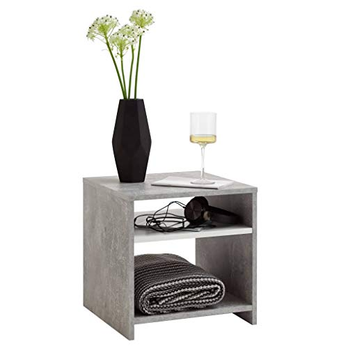 FMD furniture Beistelltisch, Grau und Weiß, 40 x 40 x 40 cm