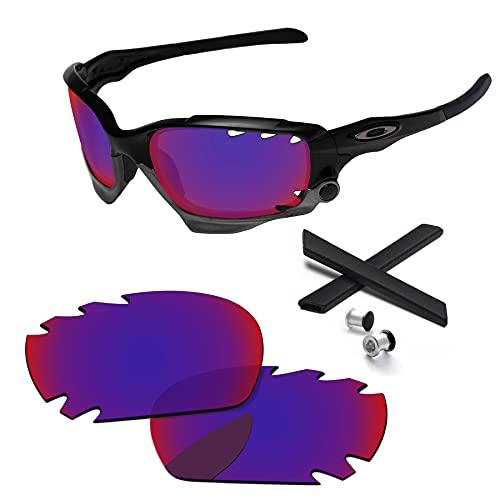PapaViva Objektiv-Ersatz- und Gummikits für for Oakley Jawbone/Racing Jacket belüftet, Indigo Road - nicht polarisiert,