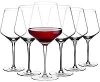 amisglass bicchieri da vino rosso, calici da vino, set 6 pezzi bicchieri per vino bianco in vetro cristallo premium, 100% senza piombo, soffiato a mano - 600 ml