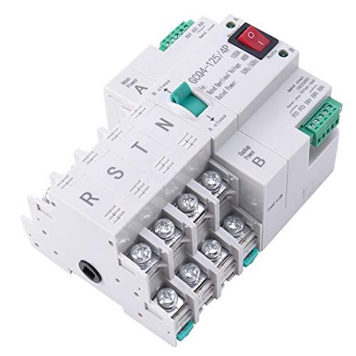 Interruptor de transferencia automática de doble potencia tipo MCB Interruptor eléctrico de disyuntor 4P 100A ATS
