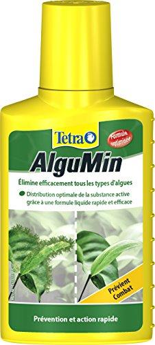 Tetra AlguMin – Elimine rapidement tous types d'algues - Traitement et prévention – Formule liquide – Préserve la flore de l'aquarium – Pour tout aquarium d'eau douce – 100 ml