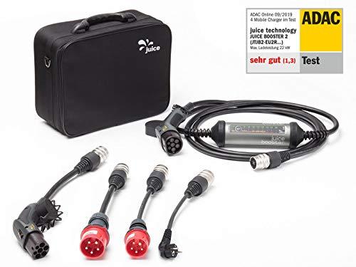 Juice Booster 2 Ladestation 22kW für Elektroautos 32A | Wallbox inkl. CEE32, CEE16, Schuko und Typ 2 Adapter