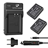 LP-E10 Battery Charger Pack, LP 2-Pack Battery & Charger, Compatible with Canon EOS Rebel T7, T6, T5, T3, T100, 4000D, 3000D, 2000D, 1500D, 1300D, 1200D, 1100D &More (Not for T3i T5i T6i T6s T7i)