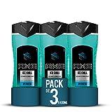 Axe Gel De Ducha Ice Chill - Pack de 3 x 400 ml (Total: 1200 ml)