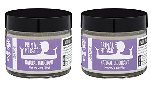 Primal Pit Paste Natural Deodorant (Lavender Pack Of 2)