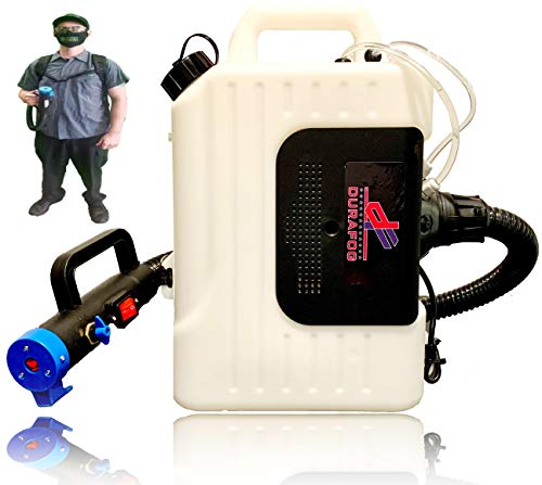 Durafog Disinfectant Fogger, Disinfectant Atomizer, ULV Fogger, Electrostatic Sprayer, Mosquito Fogger with 6M Coverage & 10L Capacity, 1400W 110V