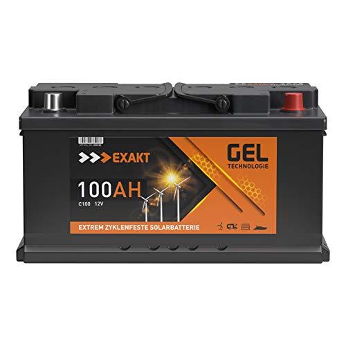 GEL Batterie Solar Wohnmobil Boot Versorgungsbatterie Akku 70Ah - 100Ah (100AH 12V)