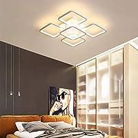 60W LEDシーリングライト 照明 おしゃれ 北欧 LED対応 8畳 照明器具 天井照明 リビング ダイニング 食卓 寝室 モダン レトロ 5灯シーリングライト四角形 シーリングライト 60cm