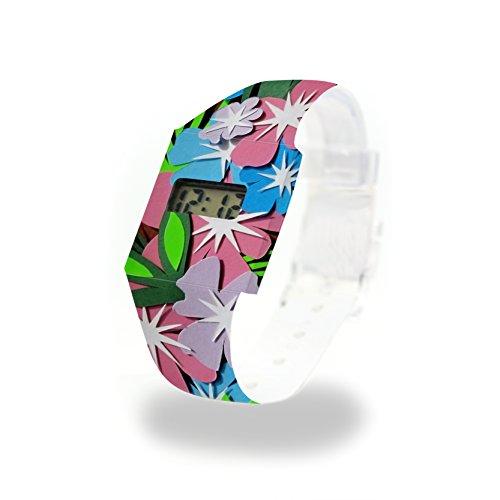 Flower Power cartón Watch/Paper Watch/Reloj de Pulsera Digital de Tyvek®, Absolutamente Resistente...