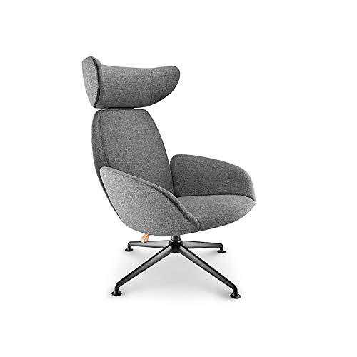 EVA SOLO | Laze Chair | Design Lehnstuhl grau mit Armlehnen, verstellbare Rücken- und Nackenstütze