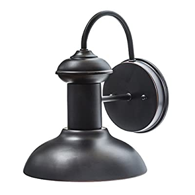 Globe Electric Martes 1-Light Indoor/Outdoor Wall Sconce, Oil Rubbed Bronze 40190