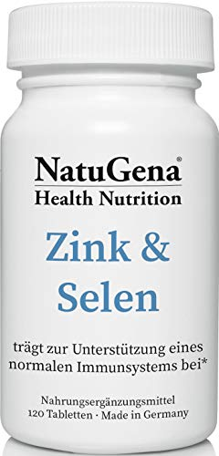 NatuGena Zink&Selen/Zinkpicolinat & Natriumselenit/Stärkung des Immunsystem / 120 Tabletten für 4 Monate