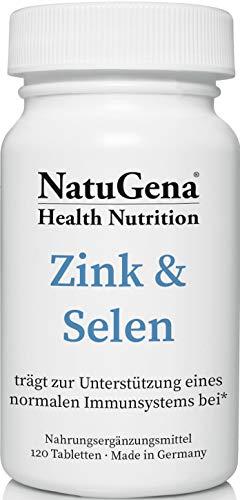 NatuGena Zink&Selen, Zinkpicolinat & Natriumselenit, Spurenelemente, 120 Tabletten