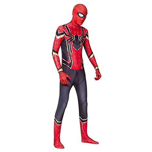 Disfraz De Spiderman Niños Adultos 3D Anime Superhéroe Onesies Medias Etapa Rendimiento Mono Trajes Cosplay Zentai Carnaval De Halloween Disfraz Traje De Fiesta,Red-Adult/2XL/185~195cm