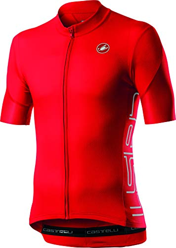 CASTELLI ENTRATA V Jersey T-Shirt, Fiery Red, S Homme