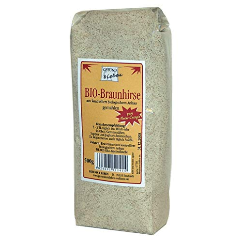 gesund & leben Bio Braunhirse gemahlen, 500g Packung