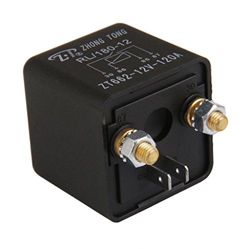 Generic Relais relay module Camion Voiture Automobile 12V 120A 120 Ampères 4 Pin 4P Noir