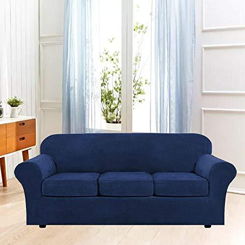 B/H Tejido Poliéster Poliéster Sofa Cubre,Funda de sofá elástica de Color sólido, Funda de sofá de Tela Simple-A_81-121cm,poliéster y Elastano Funda sofá