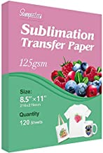 Stampcolour Sublimation Paper Heat Transfer Paper 8.5x11 inch A4 120 Sheets for Any Epson HP Canon Sawgrass Inkjet Printer with Sublimation Ink for Mug, T-shirt,Light Fabric DIY 125g