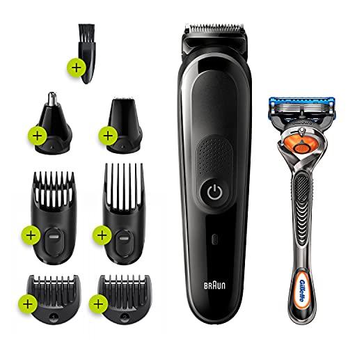 Braun Mgk5260 Recortadora de Barba y Cuerpo 8 en 1, con 6 Accesorios y Maquinilla Gillette Fusion5 Proglide
