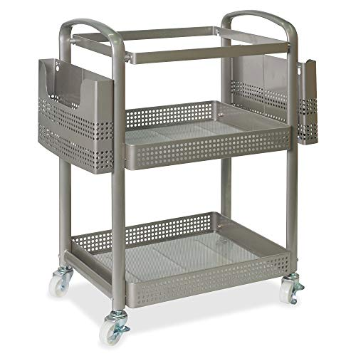 Lorell File Mobile Cart, 25.3' x 22.4' x 12.5', Champagne Gold