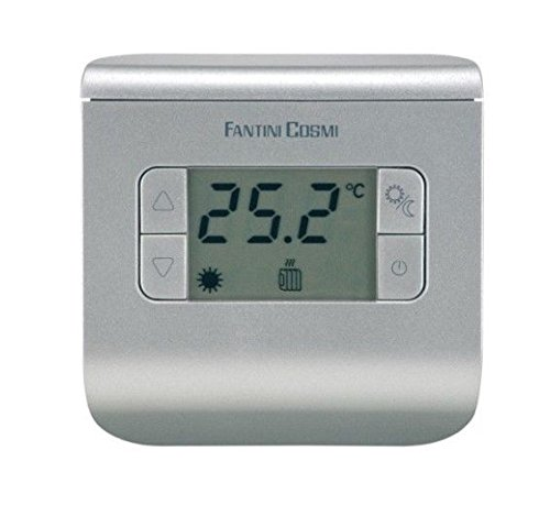 FANTINI COSMI CH111Termostato ambiente a pilas, 3temperaturas, Plata