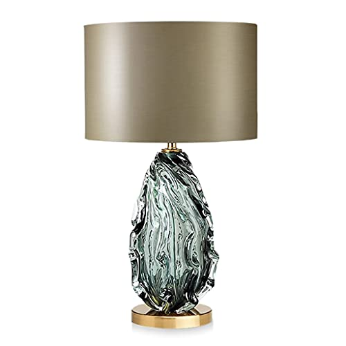 Lámpara Escritorio Lámpara de mesa lámpara de mesa de cristal dormitorio moderno lámpara de noche cálida y creativa nórdica sala de estar decoración botón interruptor de iluminación lámpara de mesa Lá