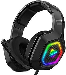 Audífonos Gamer Auriculares para juegos, estéreo bajo envolvente RGB con cancelación de ruido, auriculares con micrófono, para PS4 Xbox One PC Nintendo Switch Tablet Smartphone K10 RGB