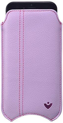 "NueVue - Faux Leather ""Screen Cleaning"" iPhone 6/6s Pouch Case, Antimicrobial Int, Sugar Purple"
